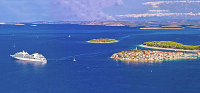 Photograph - Adriatic Tourist Destination Of Primosten Aerial Panoramic Archi by Brch Photography