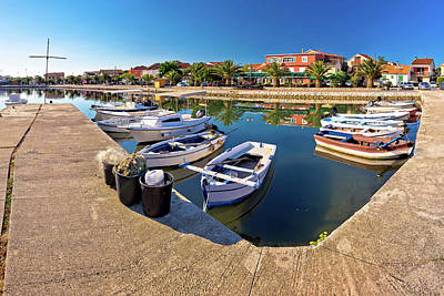 Photograph - Adriatic Village Of Bibinje Harbor And Waterfront Panoramic View by Brch Photography