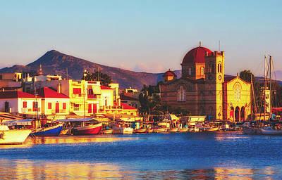 Aegina Photograph - Aegina Harbor, Greece by Jebulon