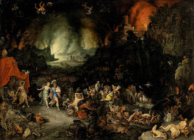 Painting - Aeneas And Sibyl In The Underworld by Jan Brueghel the Elder