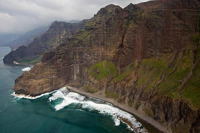 Photograph - Aerial Na Pali by Steven Lapkin