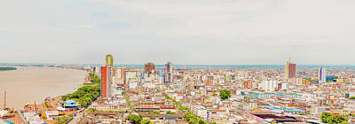 Photograph - Aerial View At The City Of Guayaquil, Ecuador by Marek Poplawski