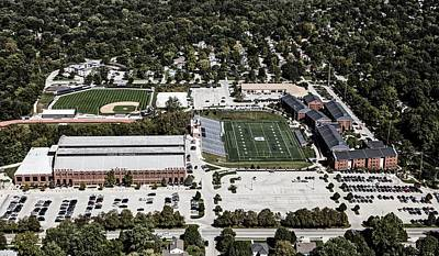 Photograph - Aerial View Of Butler University by L O C