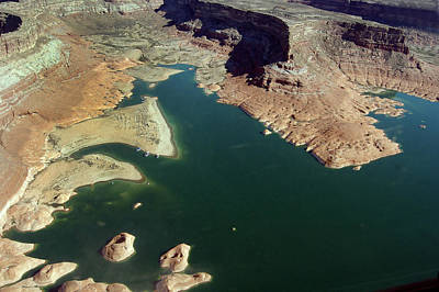 Photograph - Aerial View Of Lake Powell In Arizona by Carl Purcell