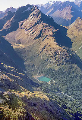 Photograph - Aerial View Of Milford Track by Alan Toepfer