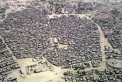 Aerial View Of Village In Ethiopa Art Print by Carl Purcell