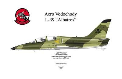 Digital Art - Aero Vodochody L-39 Albatros by Arthur Eggers