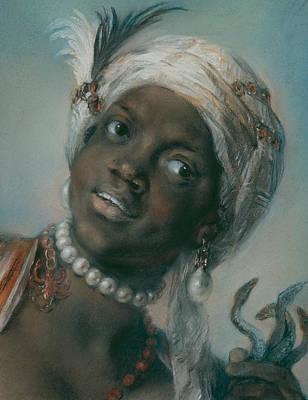 Venetian Art Pastel - Africa by Rosalba Carriera