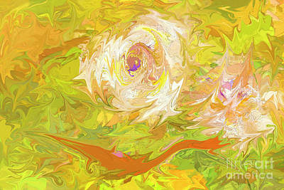 Photograph - African Iris Abstract 1 by Kay Brewer