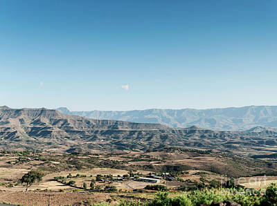 Photograph - African Rural Northern Ethiopia Mountain And Countryside Lansdca by Jacek Malipan