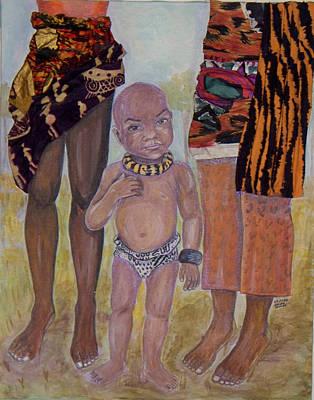 Afrik Boy Art Print
