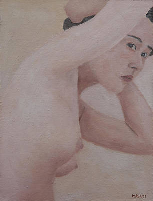 Painting - After Bath by Masami Iida