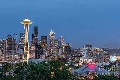 Photograph - After Sunset On The City Of Seattle by Willie Harper