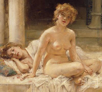 Concubine Painting - After The Bath by Leon Francois Comerre