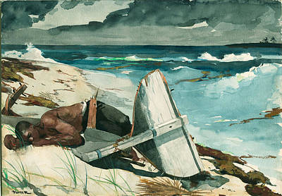 Winslow Homer Drawing - After The Hurricane, Bahamas by Winslow Homer