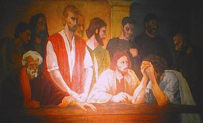 Scene From The Bible Painting - After The Last Supper by G Cuffia