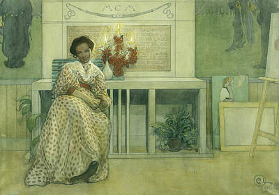 Painting - After The Prom by Carl Larsson