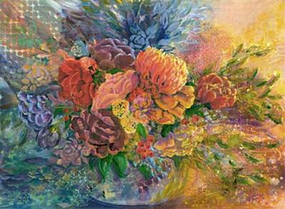 Painting - Afternoon Bouquet by Judith Kerrigan Ribbens