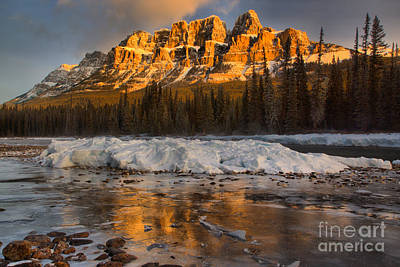 Photograph - Afternoon Castle Reflections In The Icy Bow River by Adam Jewell
