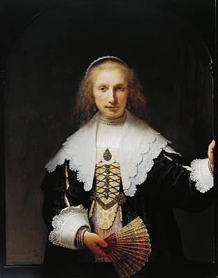 Female Painting - Agatha Bas by Rembrandt van Rijn