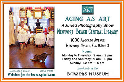 Photograph - Aging As Art Exhibit by Jennie Breeze