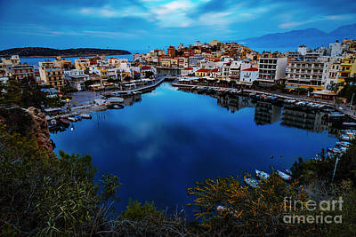 Photograph - Agios Nikolaos Lake by Antonis Androulakis