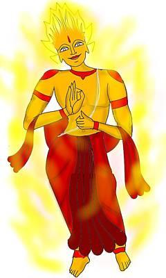 Digital Art - Agni Dev by Pratyasha Nithin