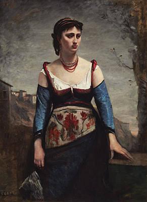 Agostina Art Print by Jean-baptiste-camille Corot