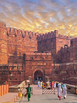 Photograph - Agra Fort Keep Gate by Nila Newsom