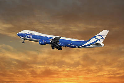 Jet Photograph - Air Bridge Cargo Airlines Boeing 747-83q by Smart Aviation