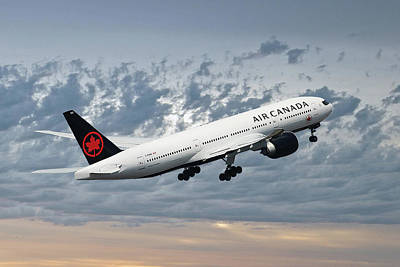 Passenger Plane Photograph - Air Canada Boeing 777-233 by Smart Aviation