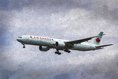 Photograph - Air Canada Boeing 777 Art by David Pyatt