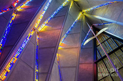 Built Structure Painting - Air Force Academy Chapel, Colorado Springs by Craig McCausland