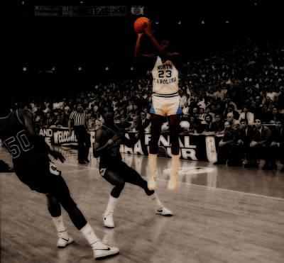Mixed Media - Air Jordan Unc Last Shot  by Brian Reaves
