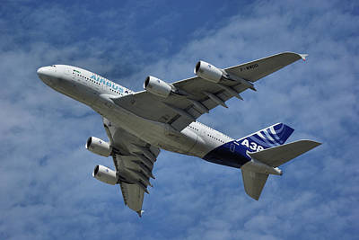 Art Print featuring the photograph Airbus A380 by Tim Beach