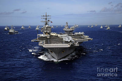 Transportation Royalty-Free and Rights-Managed Images - Aircraft Carrier Uss Ronald Reagan by Stocktrek Images