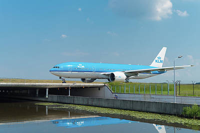 Photograph - Airplane On Runway by Hans Engbers