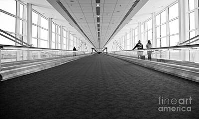 Airport Architecture Escalator Movement Art Print by ELITE IMAGE photography By Chad McDermott