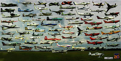 Airventure Cup Air Race, 2017 - Panorama Art Print