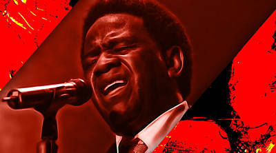 Al Green Collection Art Print by Marvin Blaine