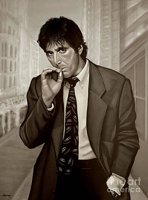 Woman Mixed Media - Al Pacino  by Meijering Manupix
