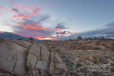 Photograph - Alabama Hills Sunset  by Michael Ver Sprill