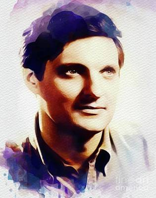 Painting - Alan Alda, Actor by John Springfield