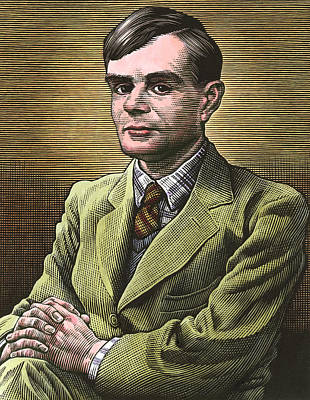 Computing Photograph - Alan Turing, British Mathematician by Bill Sanderson
