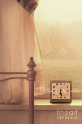 Photograph - Alarm Clock On Windowsill by Jill Battaglia