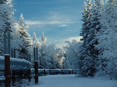 Alaska Pipeline Art Print