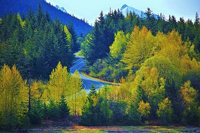 Alaskan Cruise Photograph - Alaskan Highway by Helen Carson