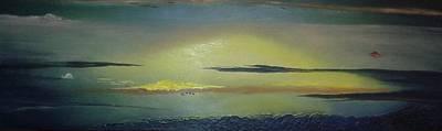 Alaskan Sunset Art Print by Anna Villarreal Garbis