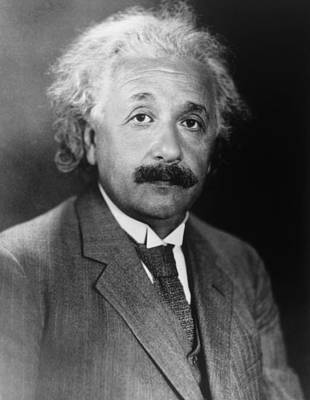 Einstein Photograph - Albert Einstein 1879-1955 by Everett