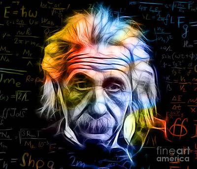 Albert Einstein Collection Print by Marvin Blaine
